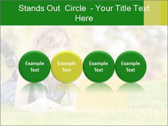 Woman lies PowerPoint Templates - Slide 76