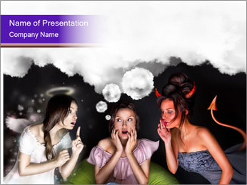 Woman must choose PowerPoint Templates - Slide 1