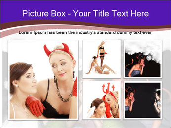 Woman must choose PowerPoint Templates - Slide 19