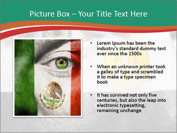 Flag painted on face PowerPoint Template - Slide 13
