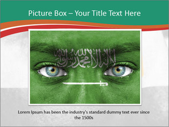 Flag painted on face PowerPoint Template - Slide 15