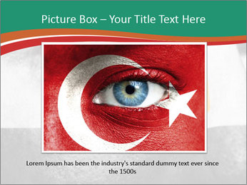 Flag painted on face PowerPoint Template - Slide 16