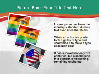 Flag painted on face PowerPoint Template - Slide 17