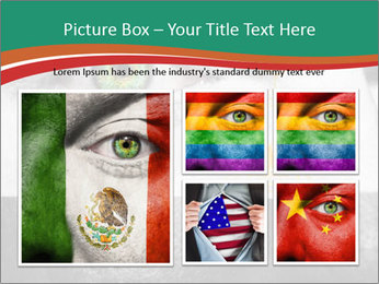 Flag painted on face PowerPoint Template - Slide 19