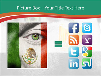 Flag painted on face PowerPoint Template - Slide 21