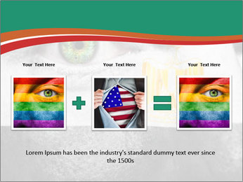 Flag painted on face PowerPoint Template - Slide 22