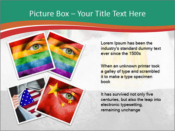 Flag painted on face PowerPoint Template - Slide 23