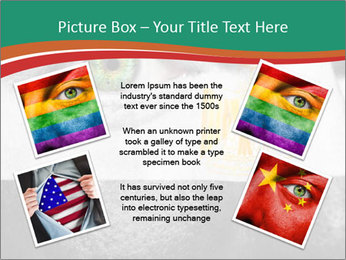 Flag painted on face PowerPoint Template - Slide 24