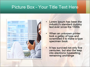 Woman drinking coffee PowerPoint Template - Slide 13