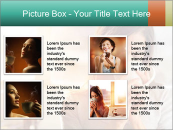 Woman drinking coffee PowerPoint Template - Slide 14