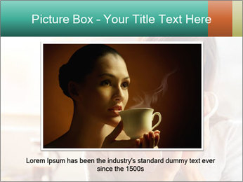 Woman drinking coffee PowerPoint Template - Slide 16