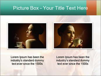 Woman drinking coffee PowerPoint Template - Slide 18