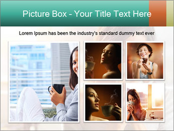 Woman drinking coffee PowerPoint Template - Slide 19