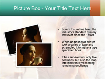 Woman drinking coffee PowerPoint Template - Slide 20