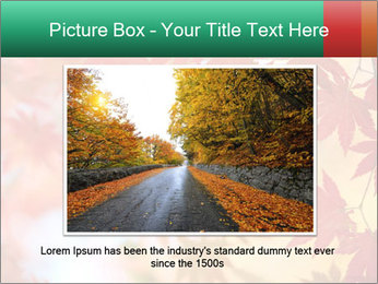 Autumn leaves PowerPoint Template - Slide 15