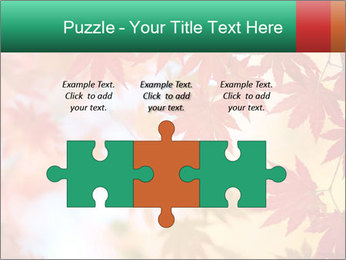 Autumn leaves PowerPoint Template - Slide 42