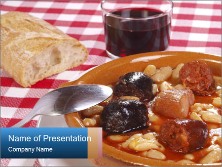 Traditional Spanish meal PowerPoint Template