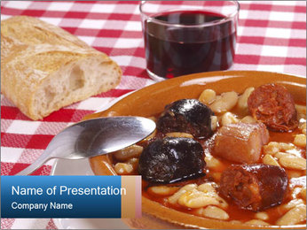 Traditional Spanish meal PowerPoint Template - Slide 1