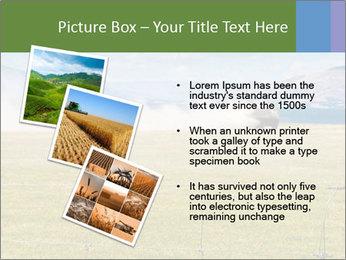 Truck spreading fertilizer PowerPoint Template - Slide 17