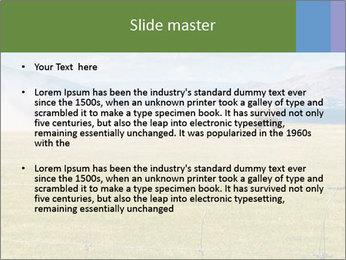 Truck spreading fertilizer PowerPoint Template - Slide 2