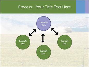Truck spreading fertilizer PowerPoint Template - Slide 91