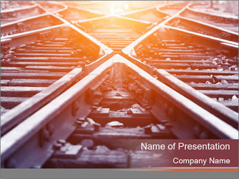 Railway PowerPoint Template - Slide 1