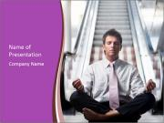 Meditating in lotus position PowerPoint Template