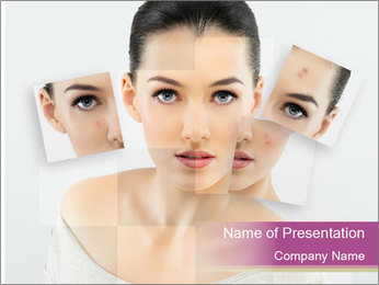 A beauty girl PowerPoint Template - Slide 1