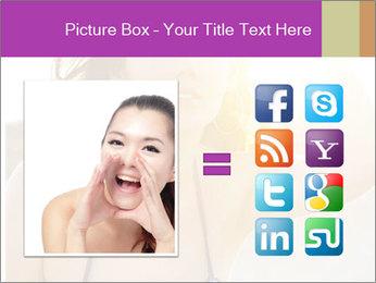 Woman looking far PowerPoint Templates - Slide 21
