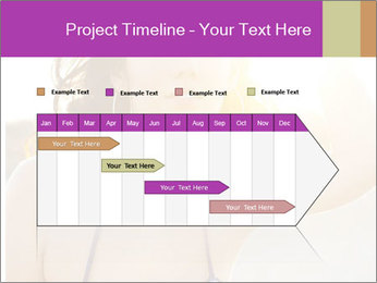 Woman looking far PowerPoint Templates - Slide 25