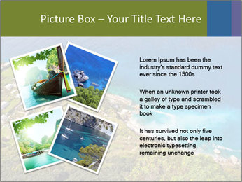 Boat on capri island PowerPoint Templates - Slide 23