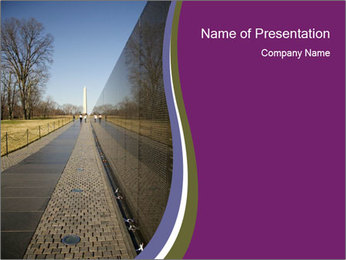 Vietnam and Washington Monument PowerPoint Template