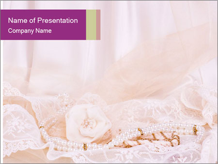 Vintage lace PowerPoint Template