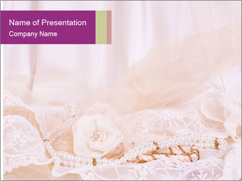 Vintage lace PowerPoint Template - Slide 1