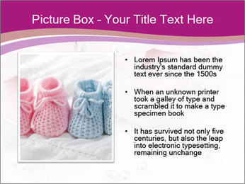 Pair of pink Babies shoes PowerPoint Template - Slide 13