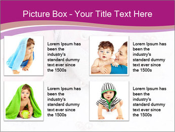Pair of pink Babies shoes PowerPoint Template - Slide 14