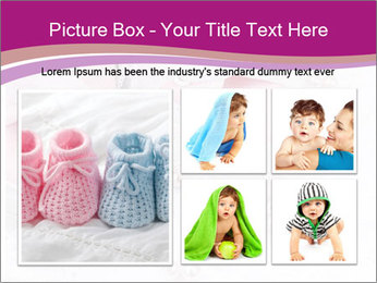 Pair of pink Babies shoes PowerPoint Template - Slide 19