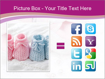 Pair of pink Babies shoes PowerPoint Templates - Slide 21