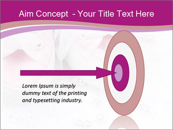 Pair of pink Babies shoes PowerPoint Template - Slide 83