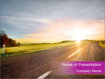 Empty road PowerPoint Template - Slide 1