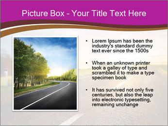 Empty road PowerPoint Template - Slide 13