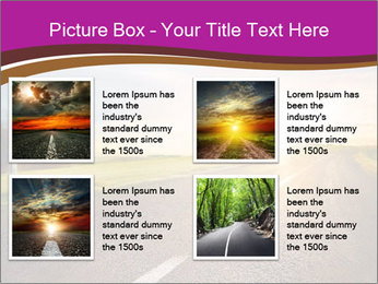 Empty road PowerPoint Template - Slide 14