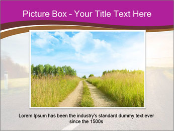Empty road PowerPoint Template - Slide 15