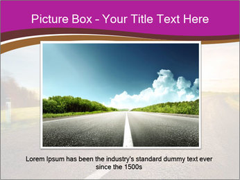Empty road PowerPoint Template - Slide 16