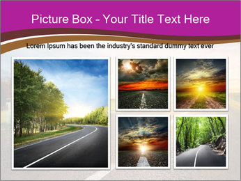 Empty road PowerPoint Template - Slide 19