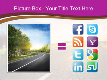 Empty road PowerPoint Template - Slide 21