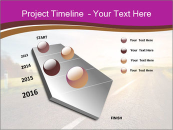 Empty road PowerPoint Template - Slide 26