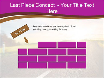 Empty road PowerPoint Template - Slide 46