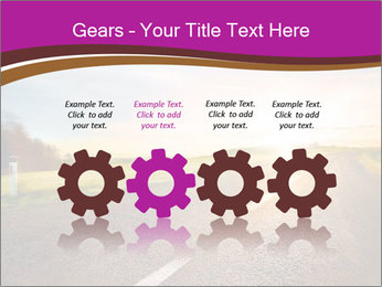 Empty road PowerPoint Template - Slide 48