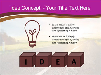 Empty road PowerPoint Template - Slide 80